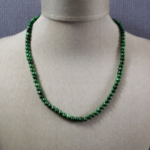 """Freshwater green pearl  necklace 16"""""""